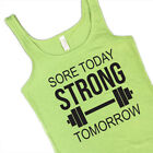 Sore Today Strong Tomorrow Tank Top Engagement Gift Bride Fitness yoga lift tee