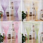 Fashion Tulle Voile Door Window Curtain Drape Floral Panel Sheer Scarf Valances