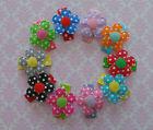 Set of 10 Flower snap clips hair bow alligator clip baby infant toddler Cici's
