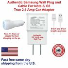 NEW ORIGINAL SAMSUNG USB CHARGER DATA SYNC CABLE GALAXY S5 NOTE 3 car adapter