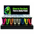 PAINTGLOW NEON UV GLOW IN DARK COLOURED FACE PAINT HALLOWEEN PARTY FX MAKE UP