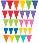 Coloured Paper Party Flag Pennant Banner 4.5m Bunting Decoration 10 Colours
