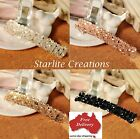 Crystal beaded Barrette Hair Clip bling bridal formal ladies choose colour