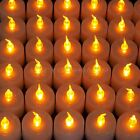 88G - Flameless Flicker LED Tea Light Candles Amber Light for Wedding Party UK