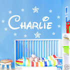 Personalised WALL STICKER Name with Stars, Disney Style children Room, Nursery x