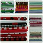10 Piece Fat Quarter Fabric Bundle Various designs ( Remnant Quilting Crafts )