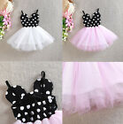 Kids Baby Girl Clothes Summer Minnie Polka Dot Tutu Princess Party Dress Outfit