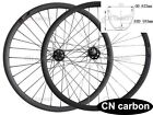 Hookess 29er MTB carbon bicycle wheels 30mm wide x25mm Tubuless Thru Axle hub