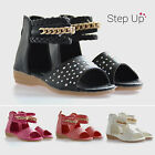 NEW Baby Toddler Children Diamante Chain Braid Ankle Strap  Summer Party Sandals
