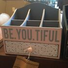 Be.You.Tiful Wooden Jewelry/Organizer Box w/Drawer 2 color choices
