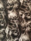 Hydro Dipping Hydrographics Water Transfer Film evil skulls  ROLLED ONLY!