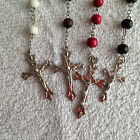 Rosary Beads Necklace Cross Religious Saints Holy Communion Confirmation