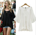 Sexy Women Summer Loose Short Sleeve Casual Shirt Tops Blouse PLUS SIZE L-4XL