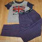 Ben Sherman boy pyjamas set t-shirt trousers 3-4 y BNWT designer