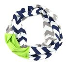 Chevron Striped Scarf Football Handmade Infinity Seahawks Team Gameday Tailgate