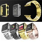 HOCO Color Stainless Steel Band Strap + Metal Protective Cover For Apple Watch