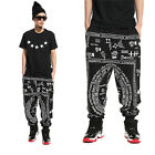 #135 HIP HOP Dance Harlan style Scrawl Sign Pattern SweatPants Pants Trousers