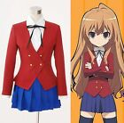 TIGER×DRAGON Aisaka Taiga Toradora Gal Uniform Cosplay Costume Custom new
