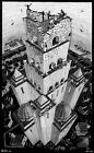 M.C. Escher tower of babel canvas print giclee 8X12&12X17 reproduction poster