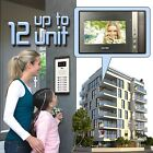 Wired Video Door Phone Security Intercom System 2-12 Apartment