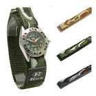 Ravel Boys Watch Kids Camo Design Hook & Loop Band Choice of Green Grey or Khaki