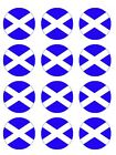 Scotland Scottish  Flag Cake Toppers Wafer or Icing cupcake x 12 Decoration