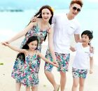 Summer Family cotton clothes Casual Mother girls long Vest Dress Father boy sets