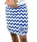 Chevron Dallas Cowboys Royal Gameday A Line Striped Yoga Women Skirt XS ~ XL