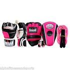 Morgan MMA Boxing Pack Womens Pink Gloves Focus Punch Pads Wraps Rope Training