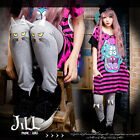 american street punk cartoon lynx cat face motif ears casual tights JN2111