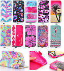 Printed Magnetic Flip Slot Wallet Leather Book Case Cover Stand For Cellphones