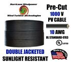 10 AWG Gauge PV Wire 5 ft to 300 ft for PV MC4 USA Solar Panel Extension Cable