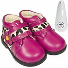 Girls Toddler Infants Leather Ankle Boots Hot Pink Wide Fit & Shoe Horn