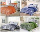 100% Cotton TREE Pattern Bedding Set: Duvet Cover Set or 4pc Sheet Set