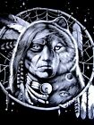 Big & Tall Mens Indian Wolf Dream Catcher Graphic T Shirt Size 8xl