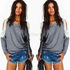 Fashion Women's Loose Long Sleeve Cocktial Casual Cotton Blouse Shirt Tops