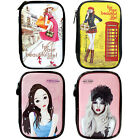 Cosmetic pouch Enamel Travel Makeup bag Pencil Case Storage Purse