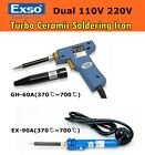 NEW EXSO TURBO Quick CERAMIC HEATER Soldering Iron Dual Voltage 370℃~700℃