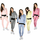 BRAND NEW LADIES HOODY TROUSERS WOMENS RUNNING SIZE YOGA GYM TRACKSUIT