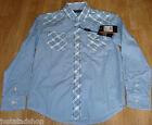 Ben Sherman boy shirt top 7-8 y BNWT blue check cotton smart designer