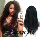 full/front lace wig Brizilian kinky curly 100% real human hair 130% density
