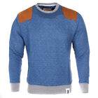 Soulstar Quard Contrast Suede Patch Sweatshirt  Mens Size
