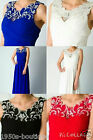 Long Maxi Evening Bridesmaid Formal Party Prom Dress Gown Size 12-16 UK Seller