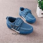 NEWFashion Kid'sBOYS Blue Sports Casual Canvas Sneakers Running Shoes
