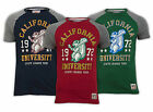 NEW Brave Soul Mens California University 1972 State League Tour Raglan T Shirt