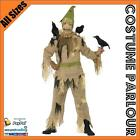 Mens Scarecrow Scared Crow Halloween Scary Scare Crow Fancy Dress Costume