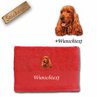 Bath Towel Cotton Embroidered Dog Cocker Spaniel Red + Name