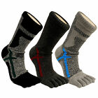 Mens Performance Anti Bacterial Microbial Athletes-Foot Therapy Finger Toe Socks