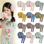 "Vaenait Baby Infant Toddler Kids Girls Clothes Pajama Set ""Long lacy set"" 12M-7T"