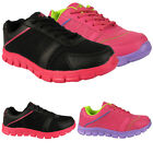 GIRLS KIDS NEW TRAINERS SPORTS JOGGING RUNNING CASUAL FITNESS SHOES SIZES UK